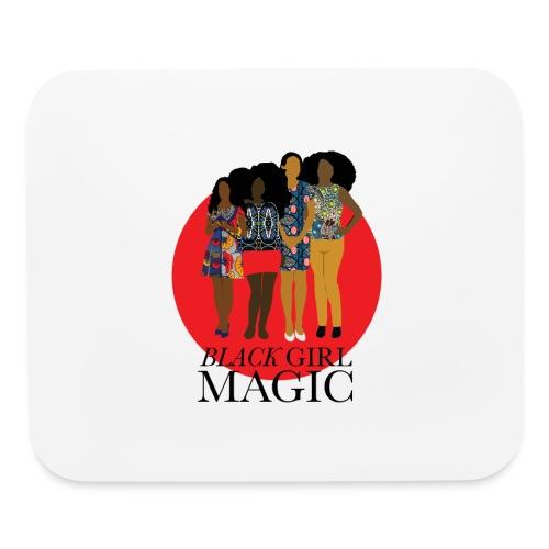 Red Pink Black girl Magic Design 2 - Mouse pad Horizontal
