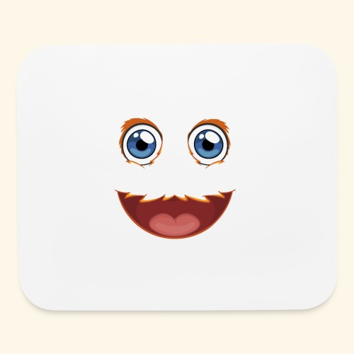 Fuzzy Puppet Face - Mouse pad Horizontal
