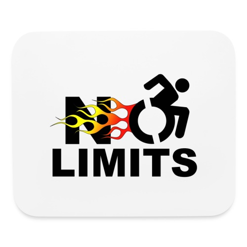 No limits for me with my wheelchair - Mouse pad Horizontal