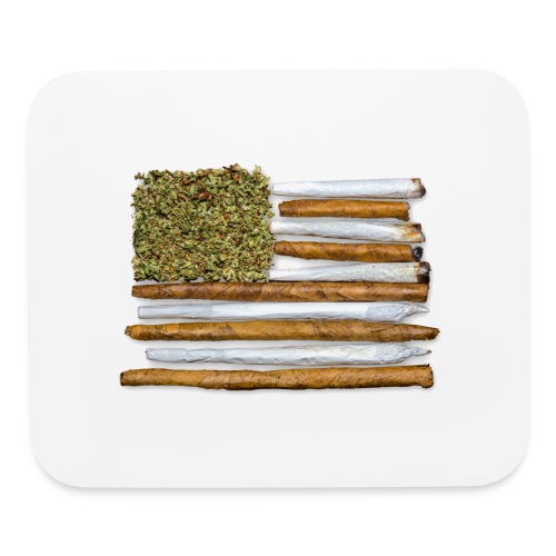 American Flag With Joint - Mouse pad Horizontal