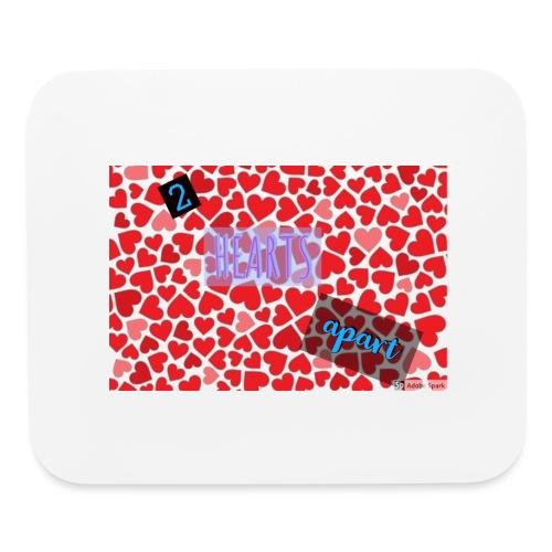 2 hearts apart - Mouse pad Horizontal