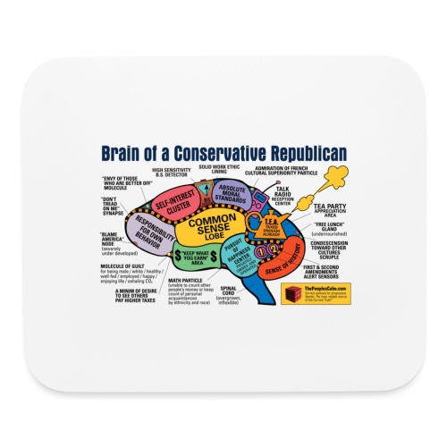 Brain of a Conservative Republican - Mouse pad Horizontal