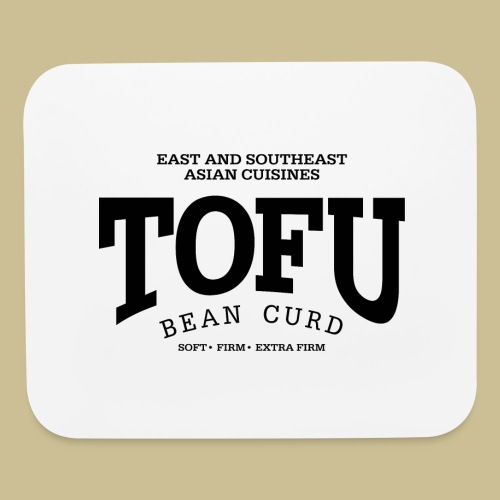 Tofu (black) - Mouse pad Horizontal
