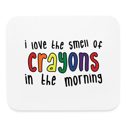Crayons light - Mouse pad Horizontal