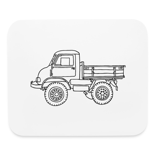 Off-road truck, transporter - Mouse pad Horizontal