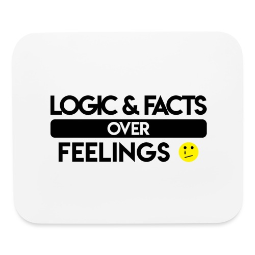 facts over feelings black - Mouse pad Horizontal