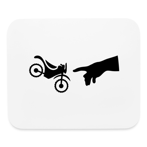The hand of god brakes a motorcycle as an allegory - Mouse pad Horizontal