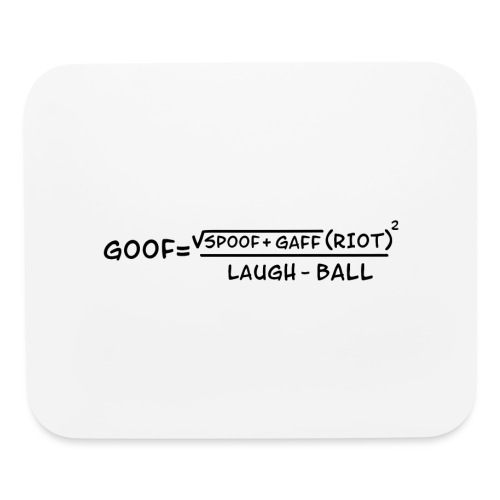 gaff text transparent - Mouse pad Horizontal