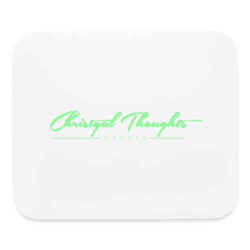 Christyal Thoughts C3N3T31 Lime png - Mouse pad Horizontal
