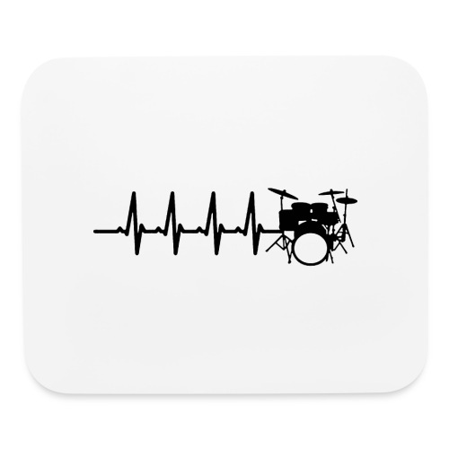 Drums Heartbeat Funny drummer - Mouse pad Horizontal