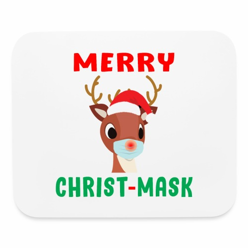Merry Christmask Rudolph Red Nose Mask Reindeer. - Mouse pad Horizontal