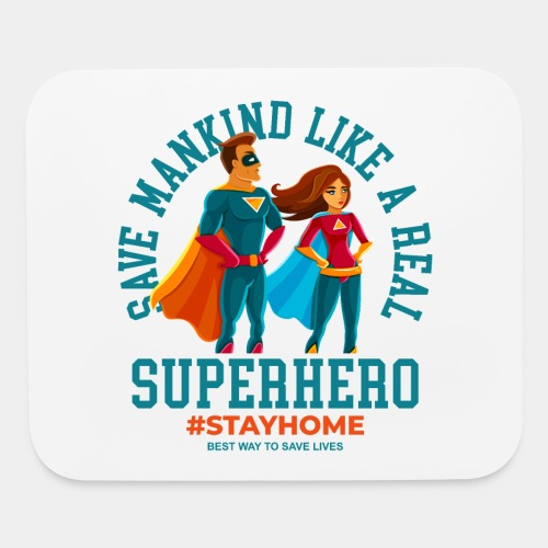 stay home save lives - Mouse pad Horizontal