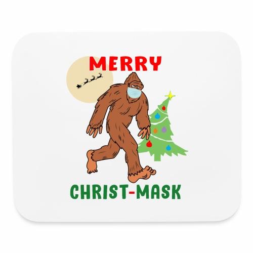 Merry Christmask Sasquatch Mask Social Distance. - Mouse pad Horizontal