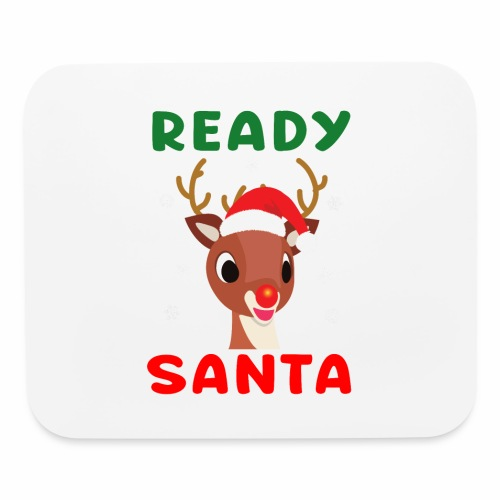 Rudolph Red Nose Reindeer Christmas Snowflakes. - Mouse pad Horizontal