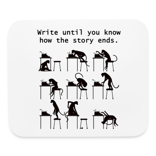 Write Until You Know - Mouse pad Horizontal
