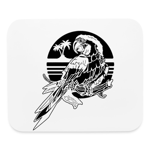 Tropical Parrot - Mouse pad Horizontal