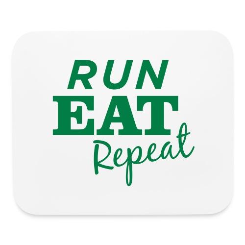 Run Eat Repeat buttons medium - Mouse pad Horizontal