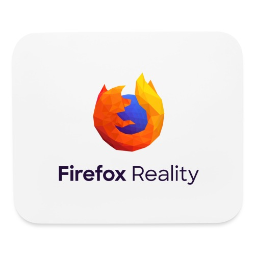 Firefox Reality - Transparent, Vertical, Dark Text - Mouse pad Horizontal