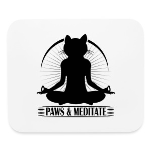 Paws and Meditate Black - Mouse pad Horizontal
