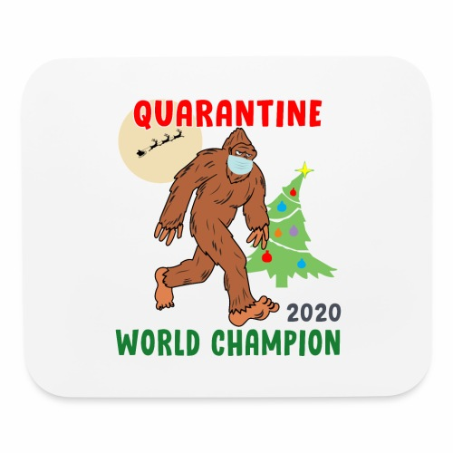 Quarantine World Champion Sasquatch Mask Christmas - Mouse pad Horizontal