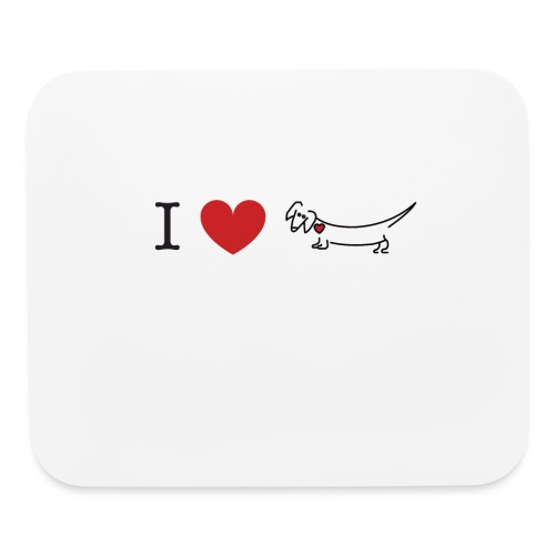 I love Dachshund - Mouse pad Horizontal