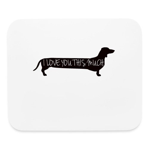 Dachshund Love - Mouse pad Horizontal