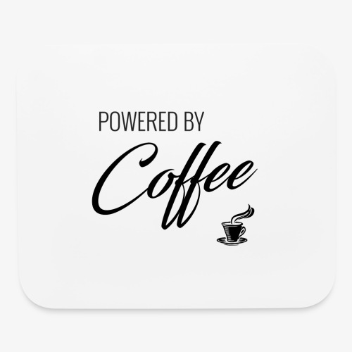 Powered by Coffee - Mouse pad Horizontal