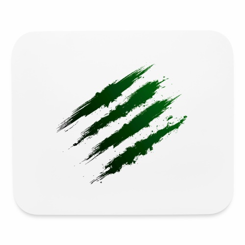 Green Claw Marks - Mouse pad Horizontal