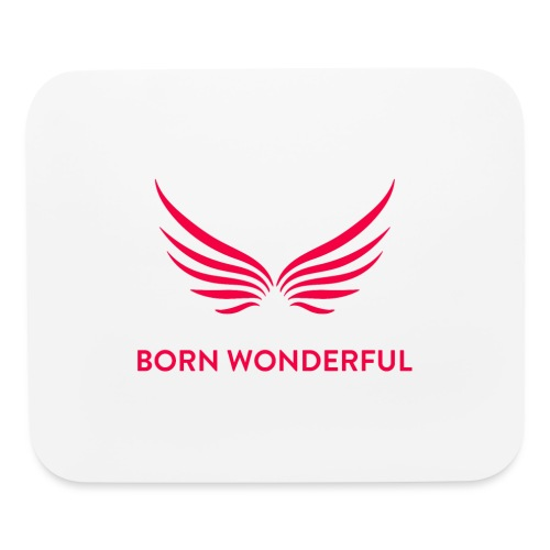 Red Born Wonderful Logo - Mouse pad Horizontal