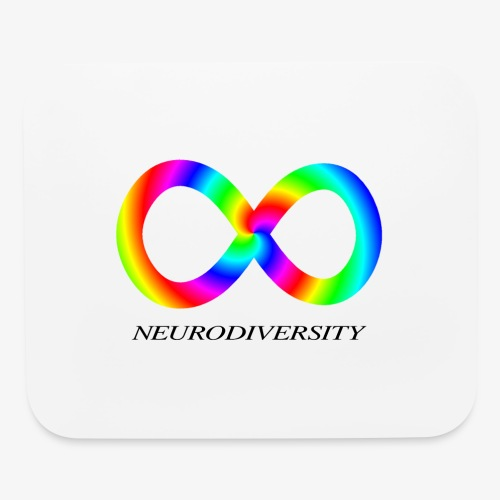 Neurodiversity with Rainbow swirl - Mouse pad Horizontal