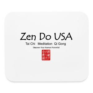 Zen Do USA logo and cell phone clothing busshist - Mouse pad Horizontal