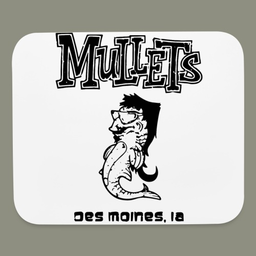 mulletmain black - Mouse pad Horizontal