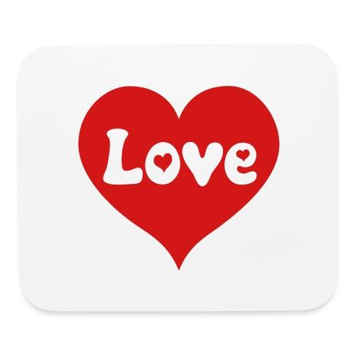 Love Heart - Mouse pad Horizontal