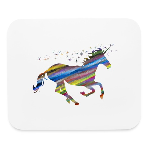 The Majestic Prismatic Streaked Magical Unicorn - Mouse pad Horizontal