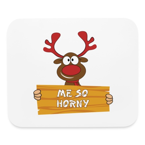 Red Christmas Horny Reindeer 3 - Mouse pad Horizontal