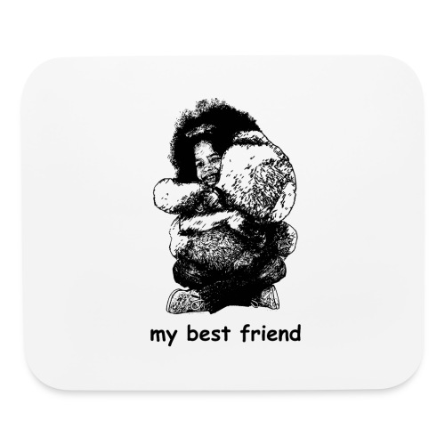 My best friend (girl) - Mouse pad Horizontal