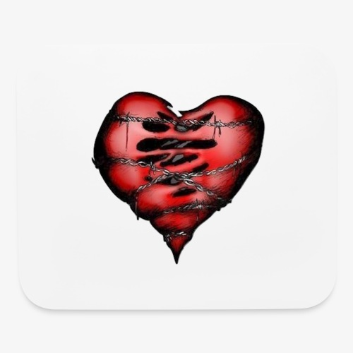Chains Heart Ceramic Mug - Mouse pad Horizontal
