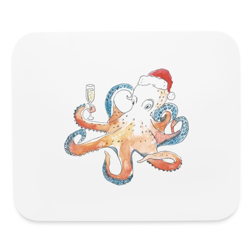 Christmas cephalopod - Mouse pad Horizontal