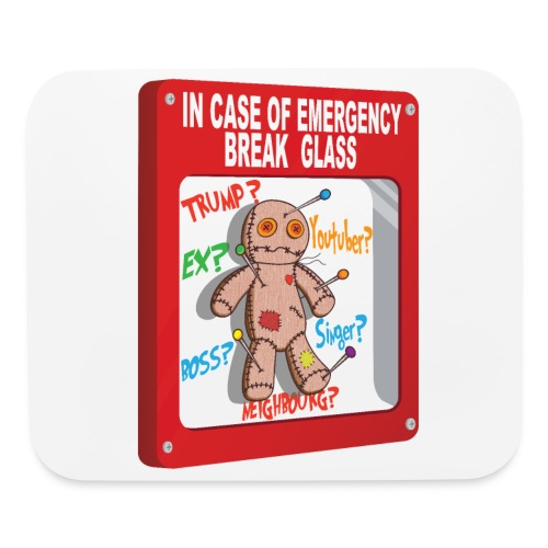 In case of emergency Voodoo Puppet - Mouse pad Horizontal