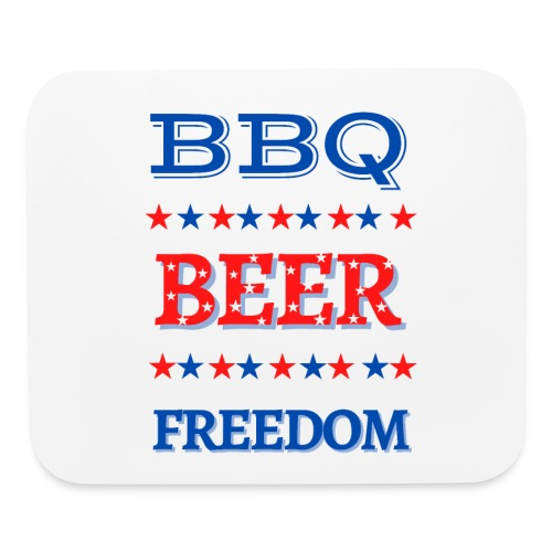 BBQ BEER FREEDOM - Mouse pad Horizontal