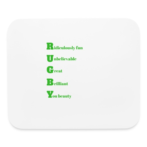 Rugby design for T-shirts and other merchandise - Mouse pad Horizontal