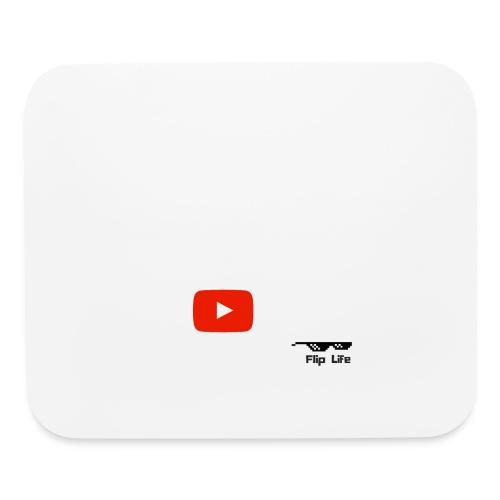 Flip It White Design T-Shirt - Back Flip Inverted - Mouse pad Horizontal