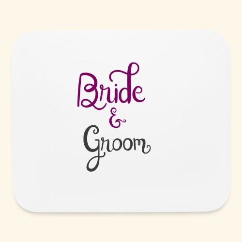 bride and groom - Mouse pad Horizontal