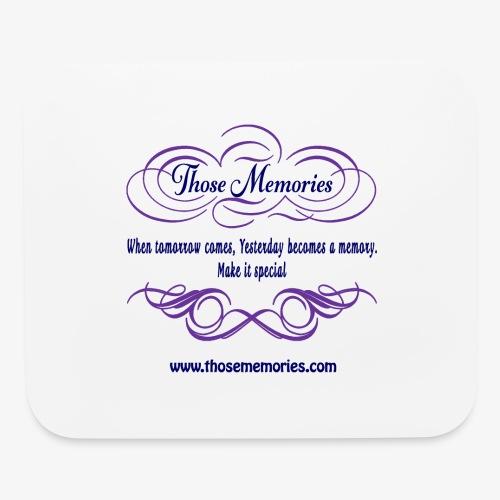 Those Memories Logo - Mouse pad Horizontal