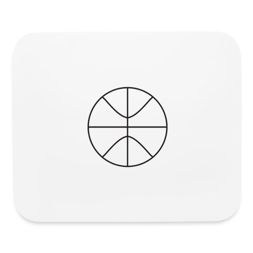 Basketball black and white - Mouse pad Horizontal