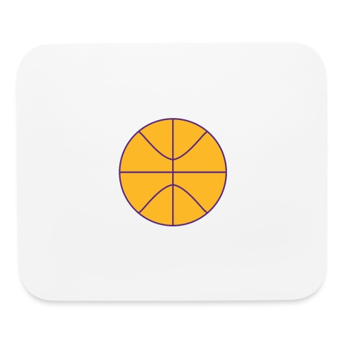 Basketball purple and gold - Mouse pad Horizontal