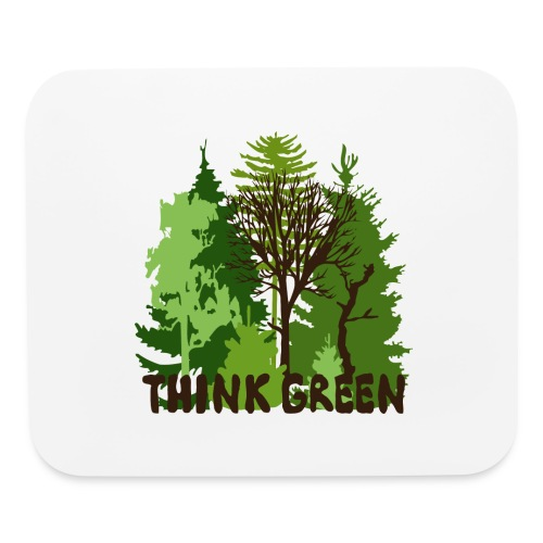 EARTHDAYCONTEST Earth Day Think Green forest trees - Mouse pad Horizontal