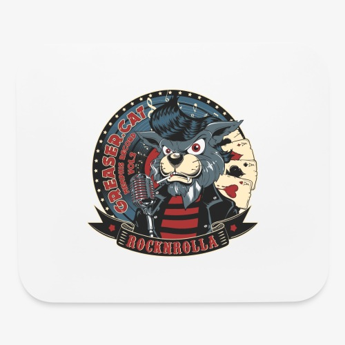 Greaser Cat - Mouse pad Horizontal