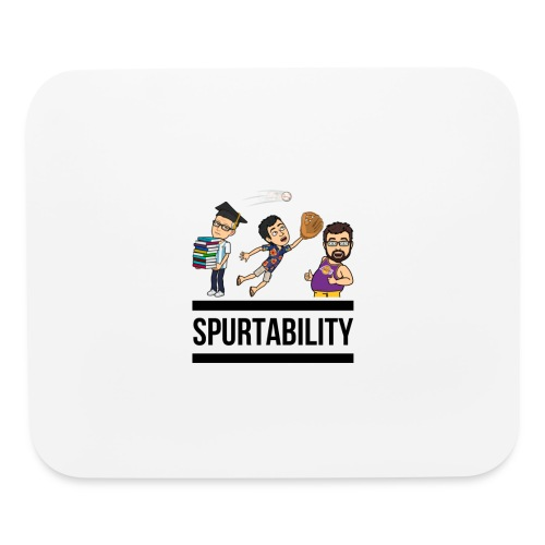 Spurtability Black Text - Mouse pad Horizontal