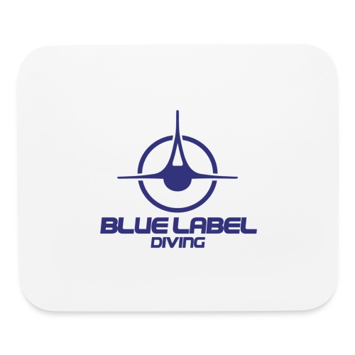 BLD logo with text blue - Mouse pad Horizontal